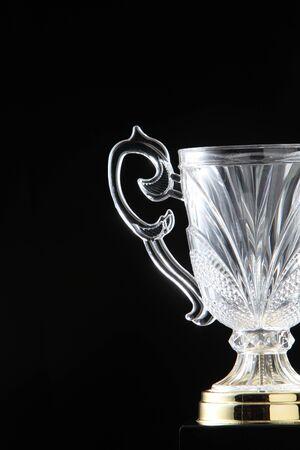 glass trophy on the black Stock fotó