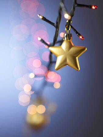 golden star shape christmas ornament