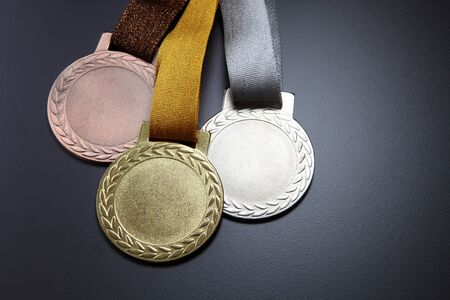 gold,silver and bronze medals Stock fotó - 129776154