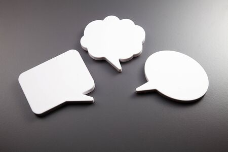few speech bubble on the gray background Stock fotó - 129776158