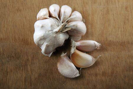 close up of white garlic Stock fotó - 129776204