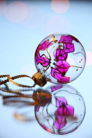 christmas decoration item on the glass table Stock fotó