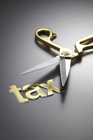 scissors and the alphabet TAX