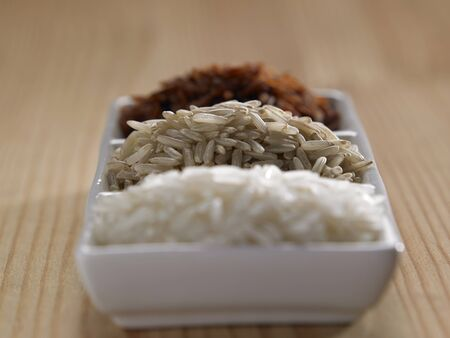 variation of rice in a saucer