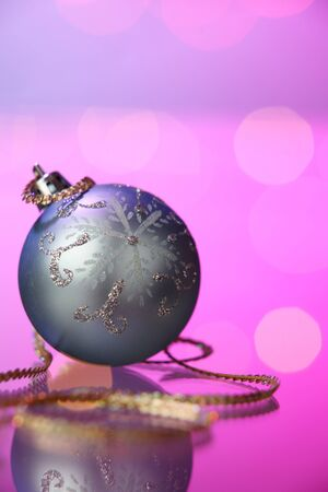 christmas decoration item on the purple background