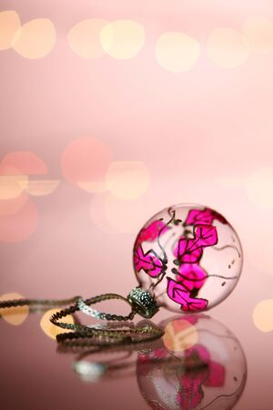 christmas decoration item on the glass table Stock fotó - 129776197