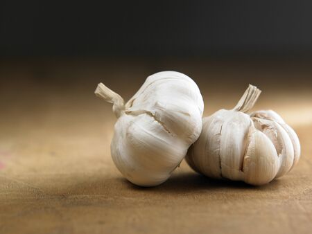 two garlic side by side