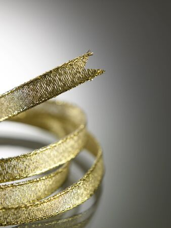 close up of the gold color ribbon Stock fotó