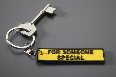 key with the special key chain Stock Photo