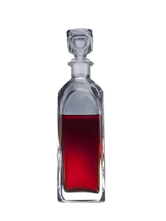 liqour in the glass container