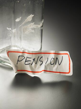 pension label peel out from the jar