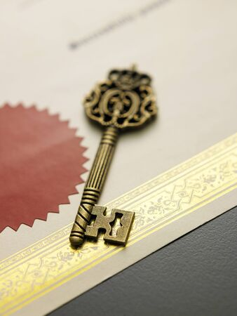 old key on the certificate