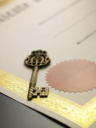 证书的旧钥匙