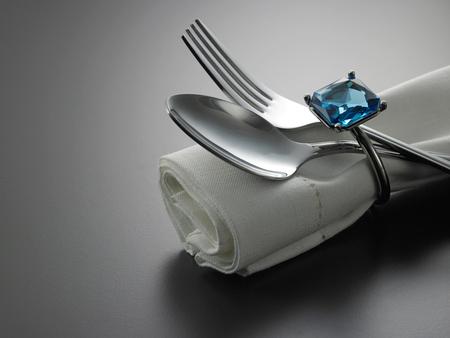 ring type of napkin for the table setting Reklamní fotografie