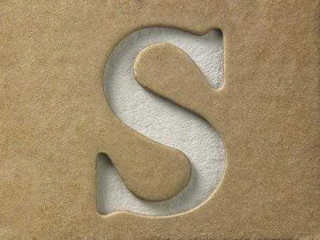 ritaglia le lettere dell'alfabeto sul cartoncino marrone