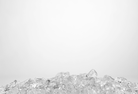 crushed ice in front of the white background