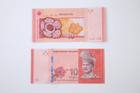 Malaysia Ringgit ten ringgit front and back view