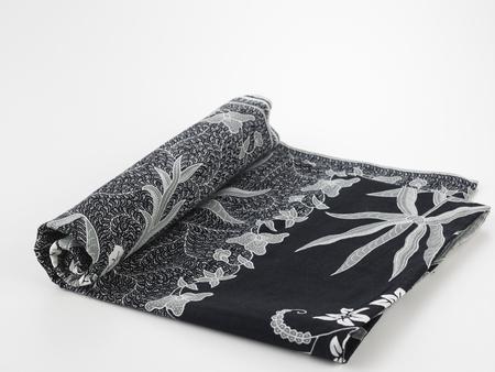 Close up flower pattern background on batik fabric