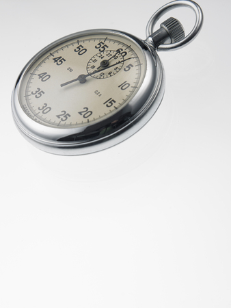 stop watch with depth of field