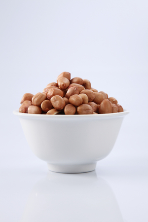 ground nut in the white bowl