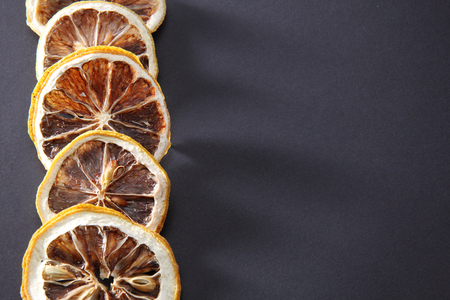 Chinese herbal medicine drying lemon slice