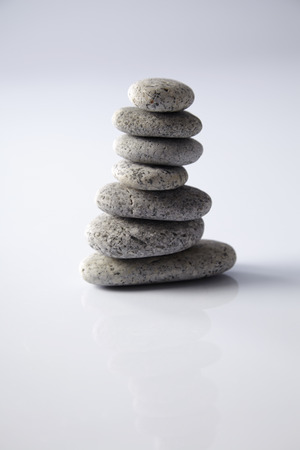 stack of the gray pebble stone