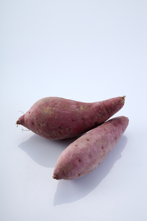 sweet potatoe on the white background