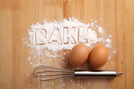 baking concept,hand whisk and eggs Reklamní fotografie - 118053160
