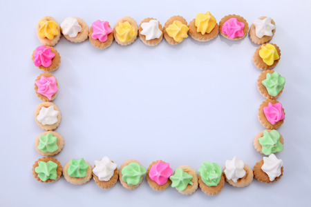 Belly button iced gem biscuits