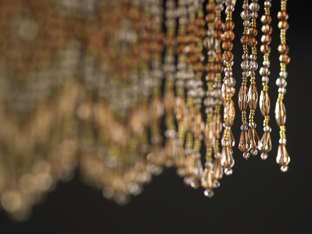 close up of the Beaded curtain 写真素材
