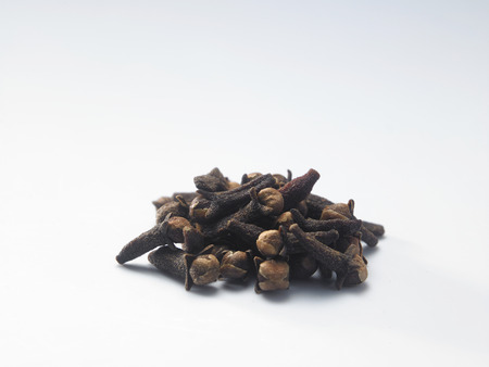 close up of clove on white background