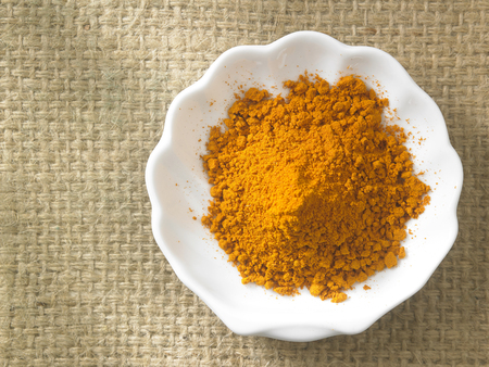 top view of the curry powder