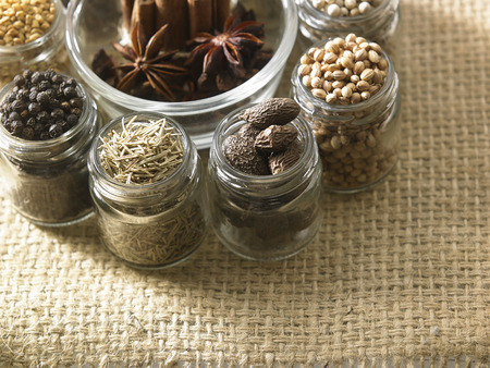 assorted spices in a circle