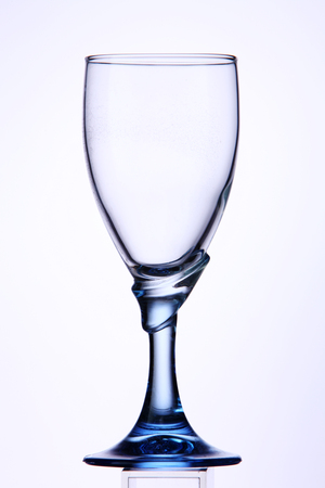 empty wine glass on the white background Standard-Bild