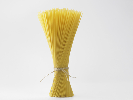spaghetti on the whit background