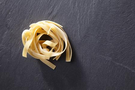 close up of fettuccine pasta