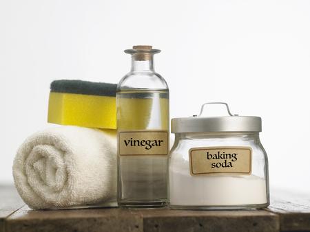 baking soda with white vinegar 版權商用圖片 - 118192663