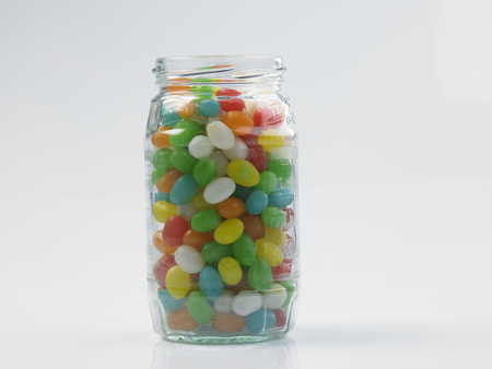 jelly beans in a glass jar 免版税图像