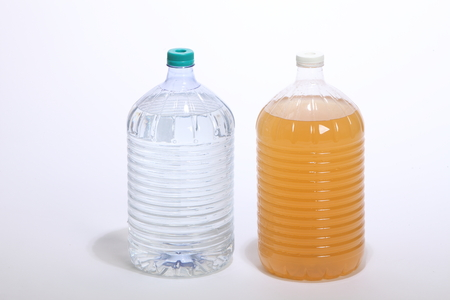 comparation of clean and contaminated water