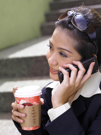 businesswoman on cellphone outdoor