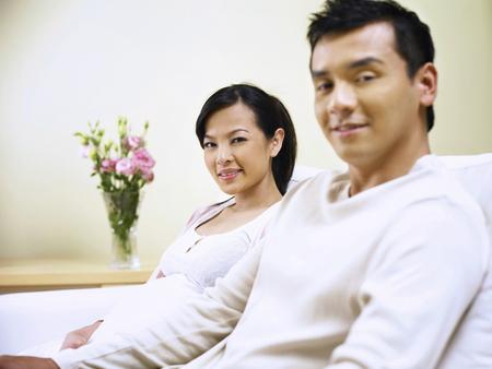man and pregnant wife 免版税图像