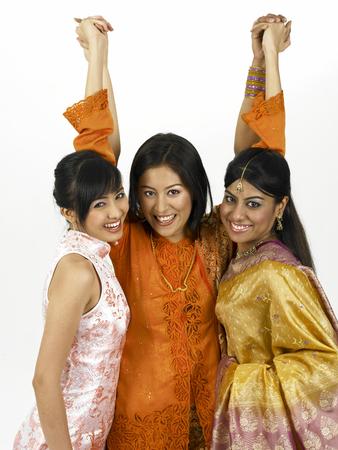 three malaysia young women Stock Photo