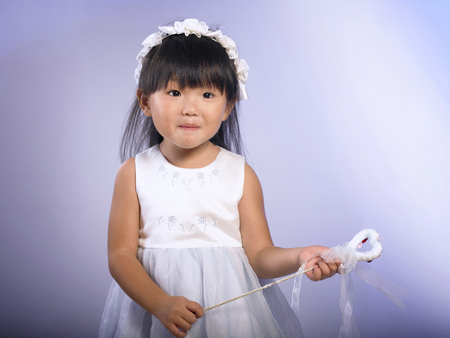 A young girl with funny faces