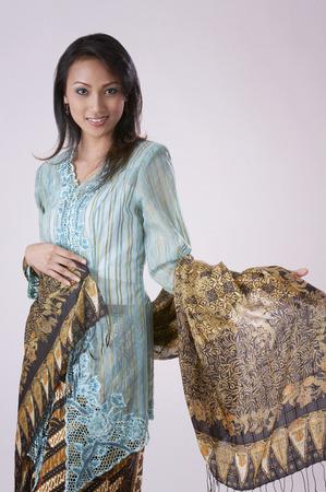 portrait shot of the woman with baju kebaya