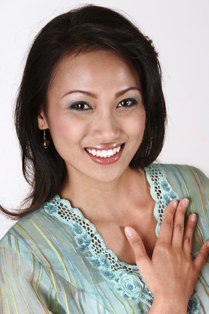 malay with hand gesture- welcome
