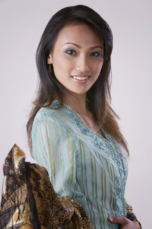 portrait shot of the malay woman