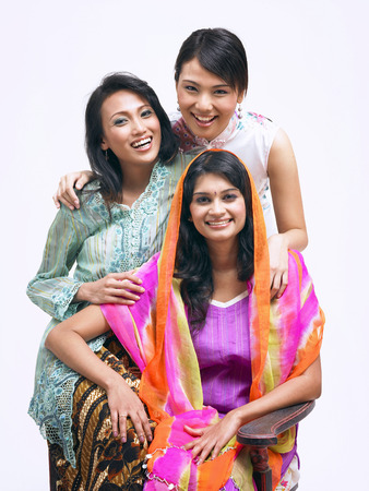 malay,chinese and indian standing together 免版税图像 - 119047746
