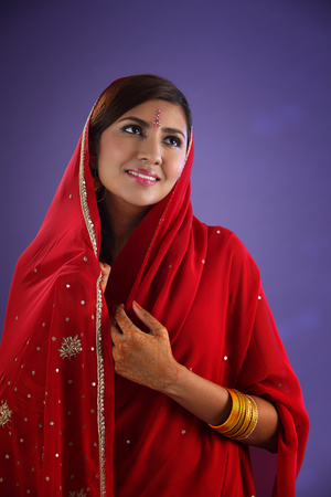 Beautiful traditional Indian young woman Stock Photo