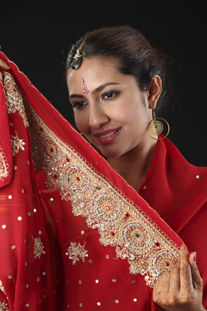 woman dressed in traditional Indian clothing