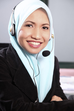 from view of malay businesswoman